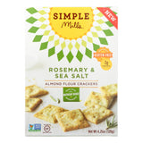 Simple Mills Rosemary And Sea Salt Almond Flour Crackers - Case Of 6 - 4.25 Oz.