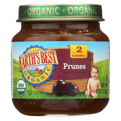 Earth's Best Stage 2 - Organic - Prunes - Case Of 12 - 4 Oz