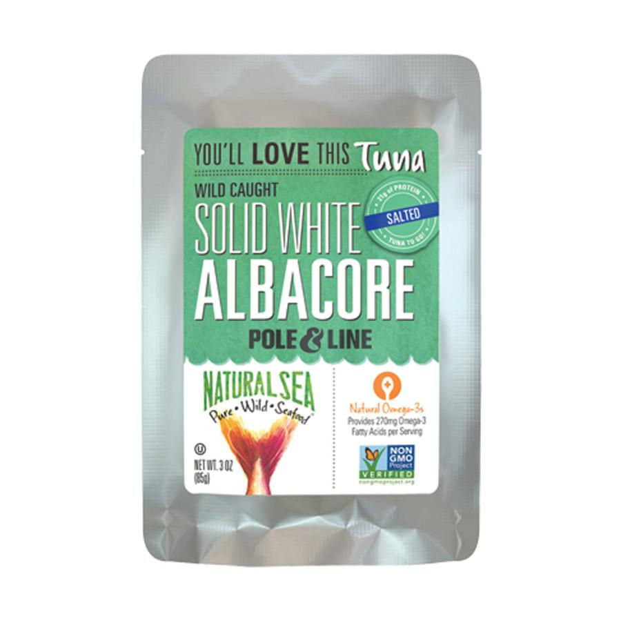 Natural Sea Wild Albacore Tuna Pouch - With Sea Salt - 3 Oz.