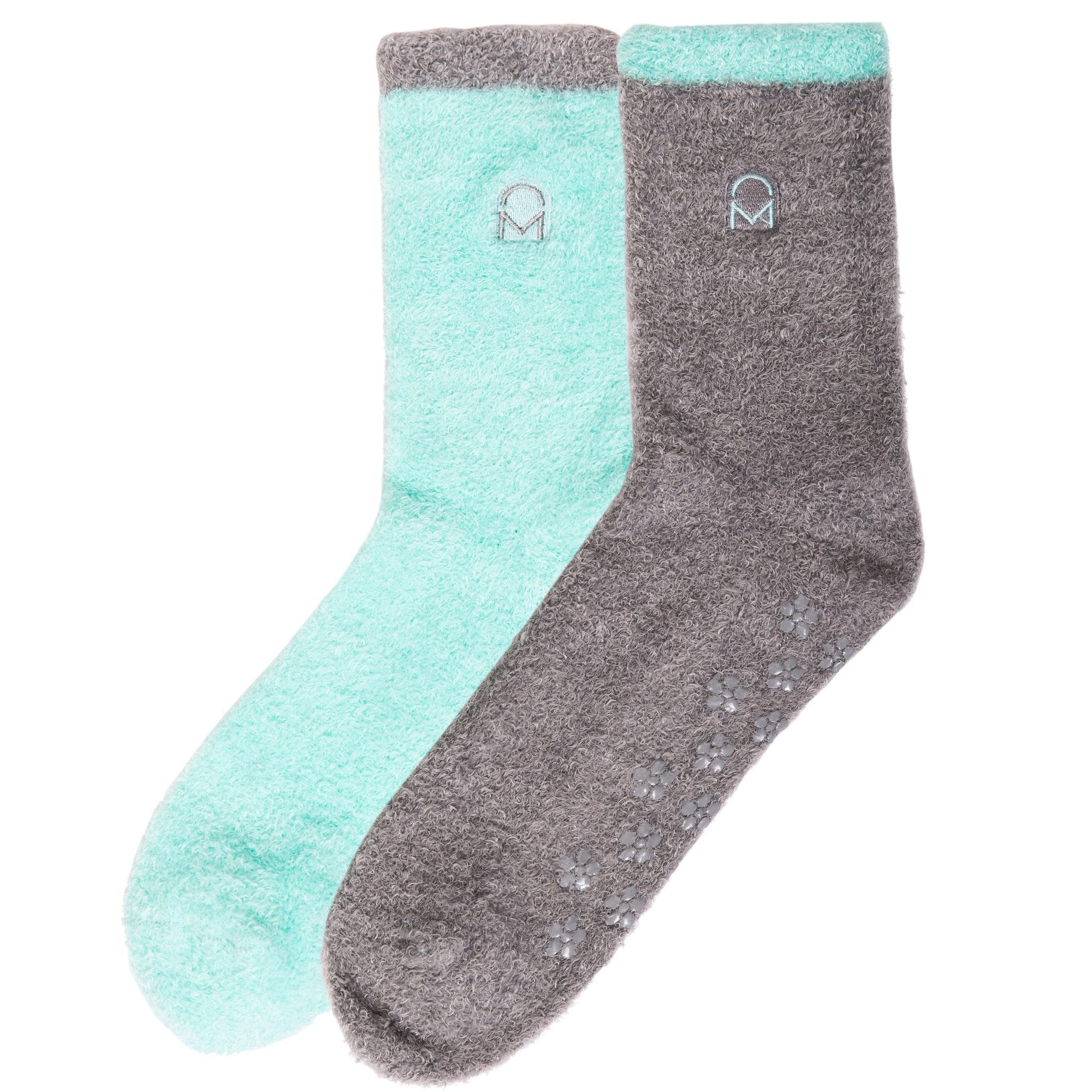 Box Packaged Women's Soft Anti-Skid Winter Feather Socks - 2-Pairs - Set C4