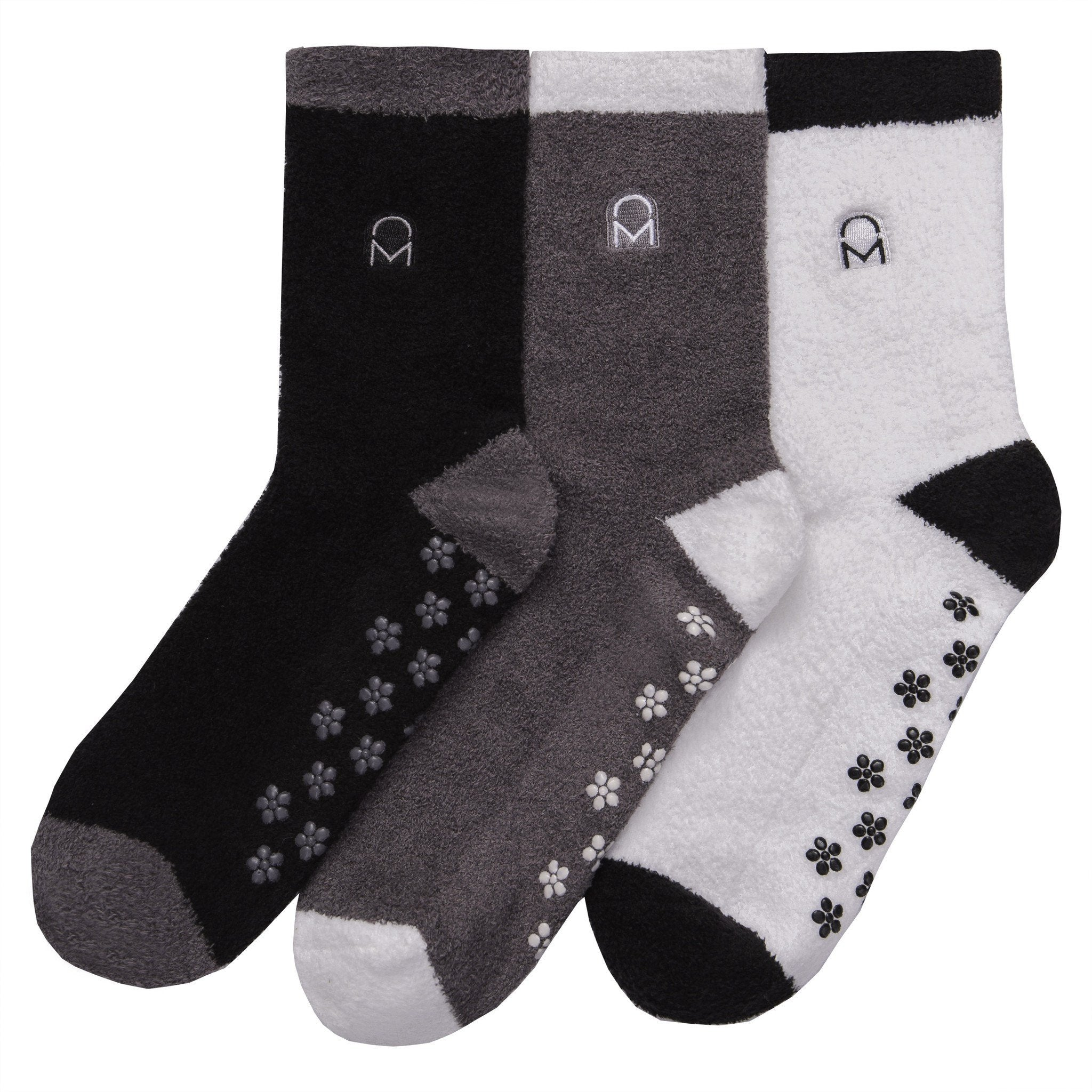 Women's Soft Anti-Skid Micro-Plush Winter Crew Socks - Set C3
