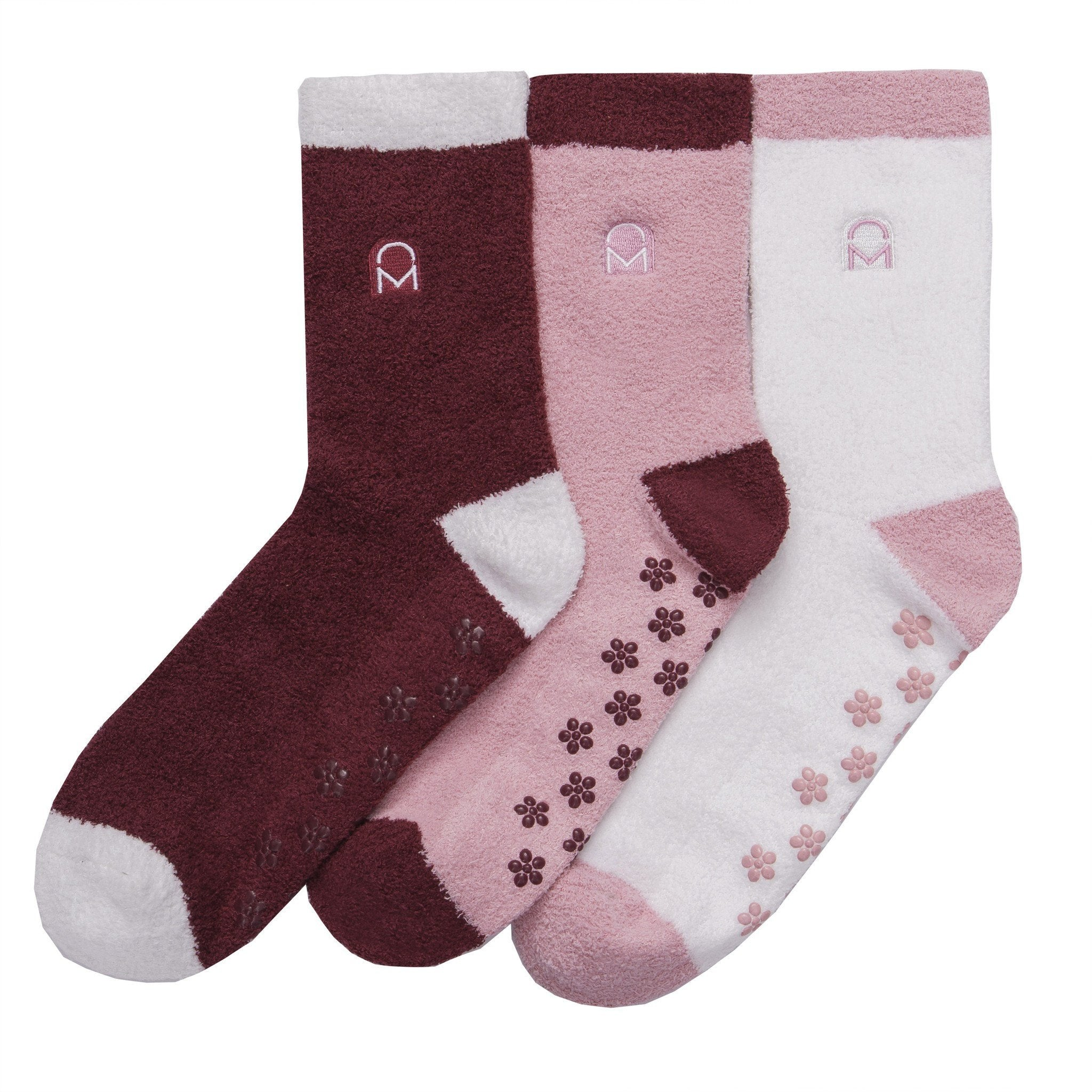 Women's Soft Anti-Skid Micro-Plush Winter Crew Socks - Set C5