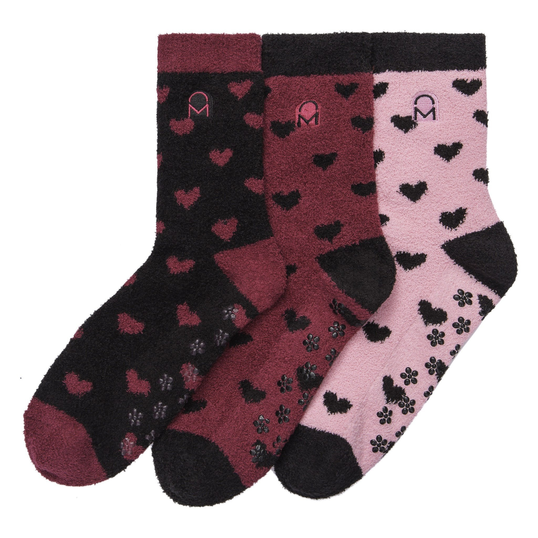 Women's Soft Anti-Skid Micro-Plush Winter Crew Socks - Set C7