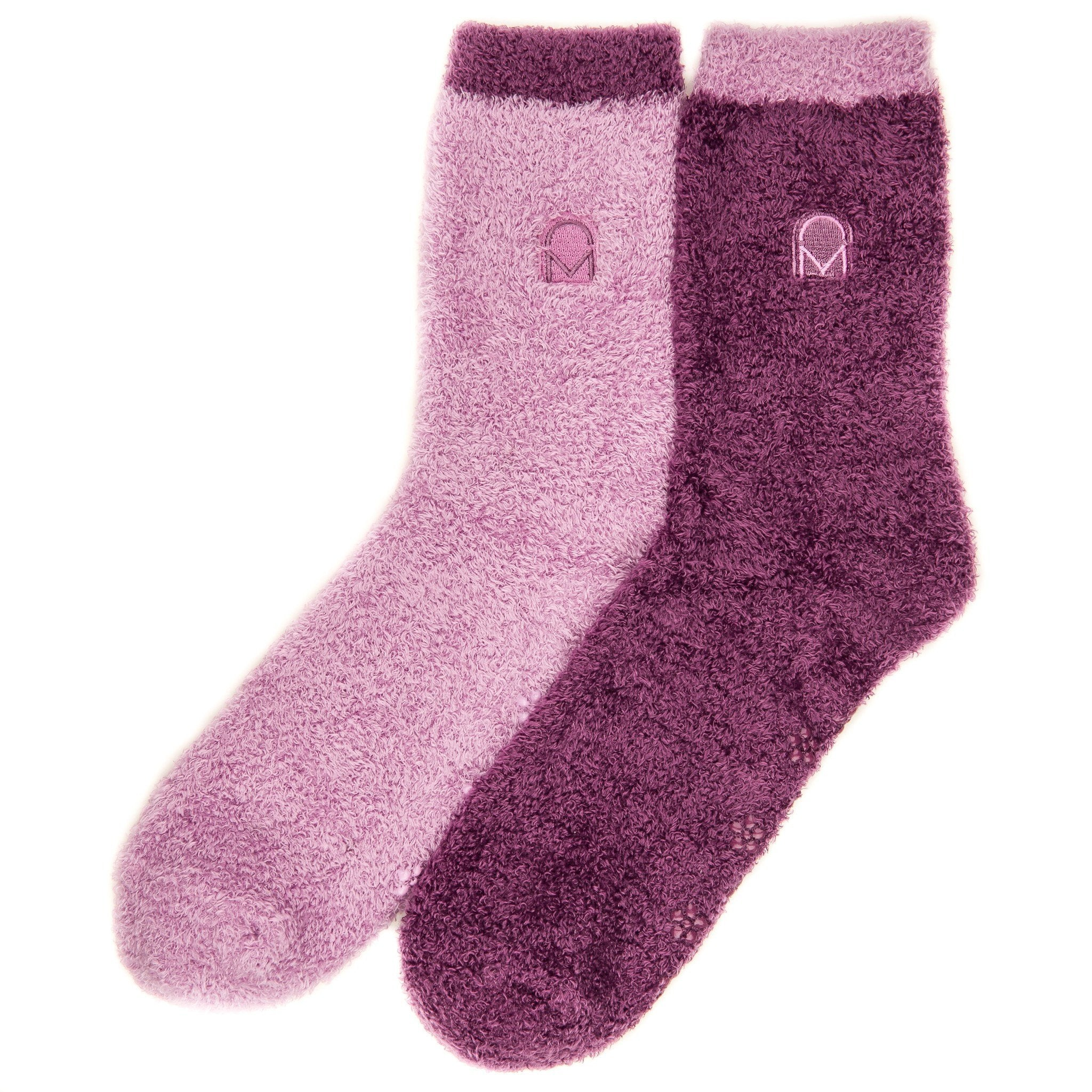 Women's Soft Anti-Skid Winter Feather Socks - 2-Pairs - Set A1
