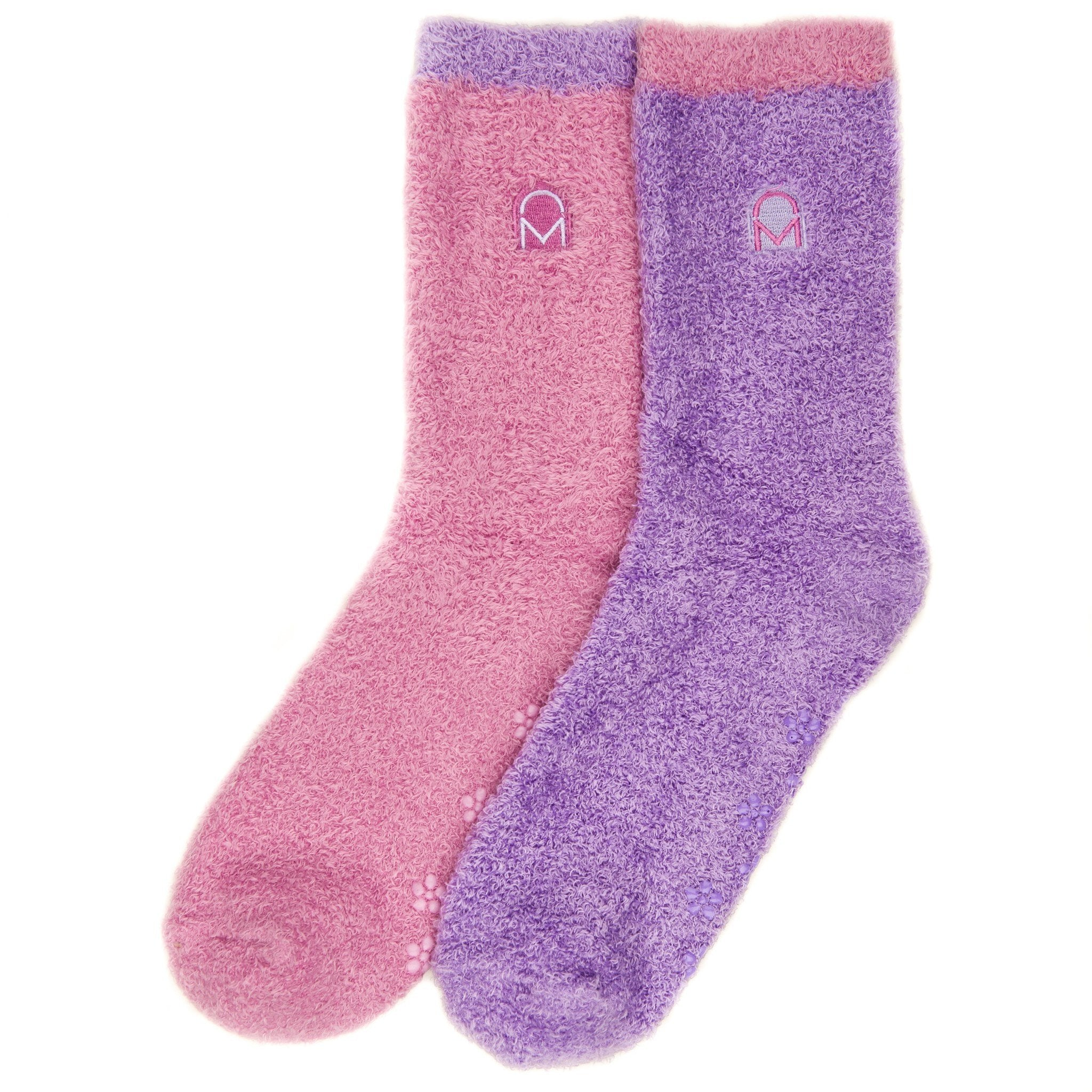 Women's Soft Anti-Skid Winter Feather Socks - 2-Pairs - Set A3