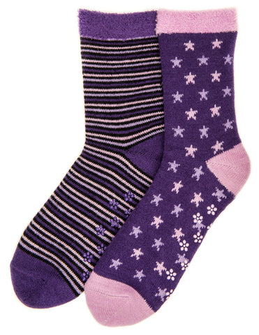 Women's Soft Premium Double Layer Winter Crew Socks - 2 Pairs - Set A3