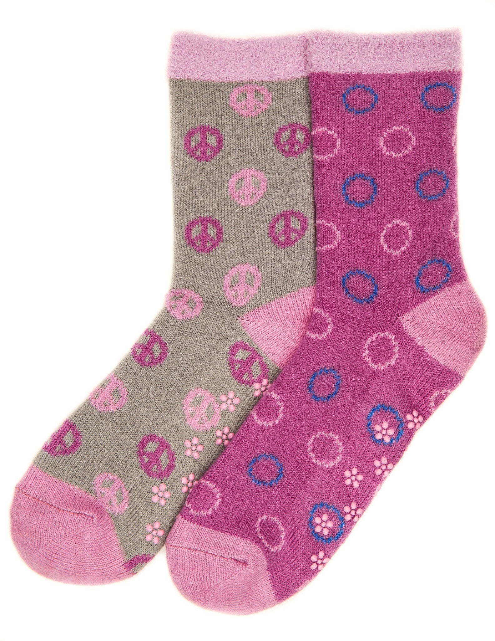 Women's Soft Premium Double Layer Winter Crew Socks - 2 Pairs - Set A4