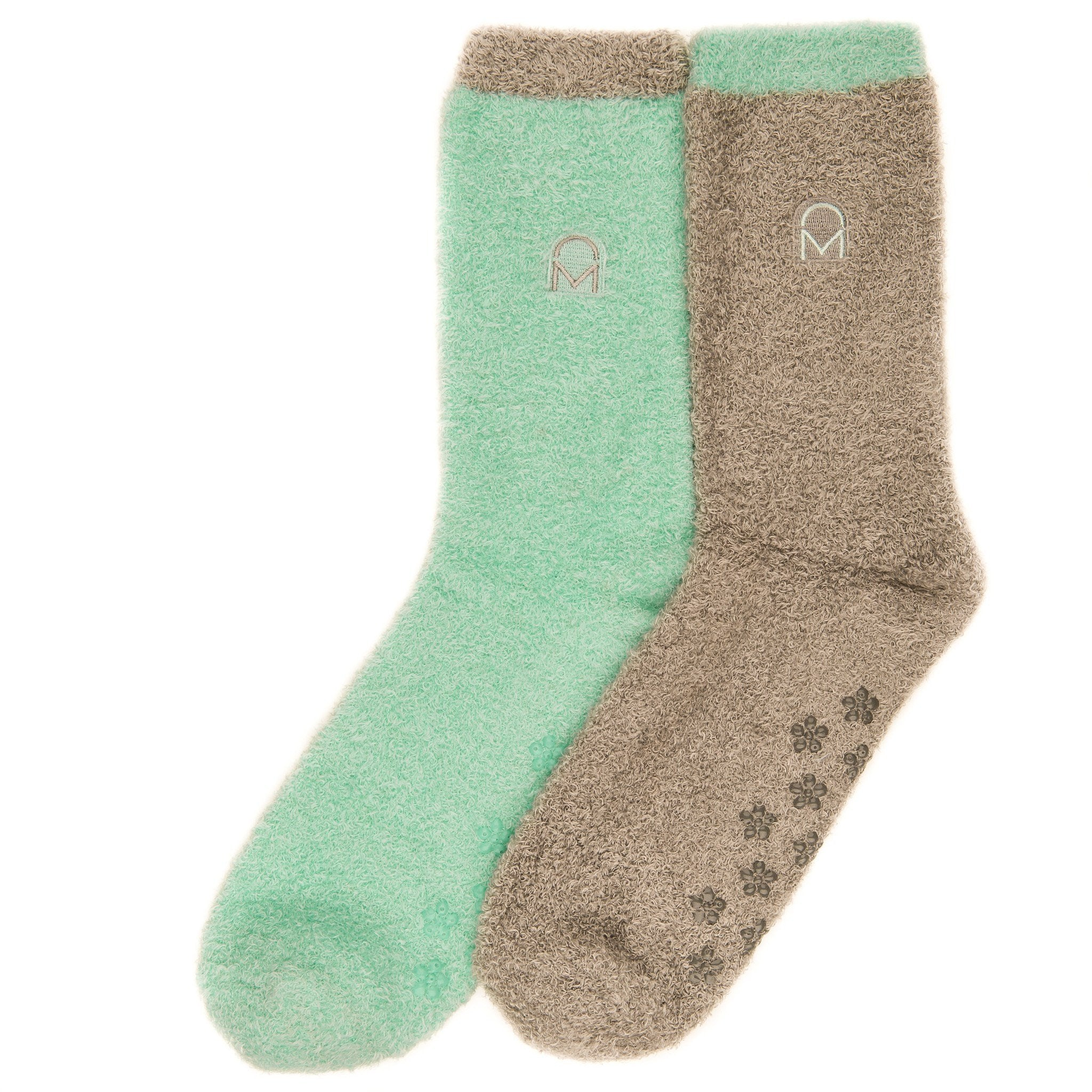 Women's Soft Anti-Skid Winter Feather Socks - 2-Pairs - Set A5