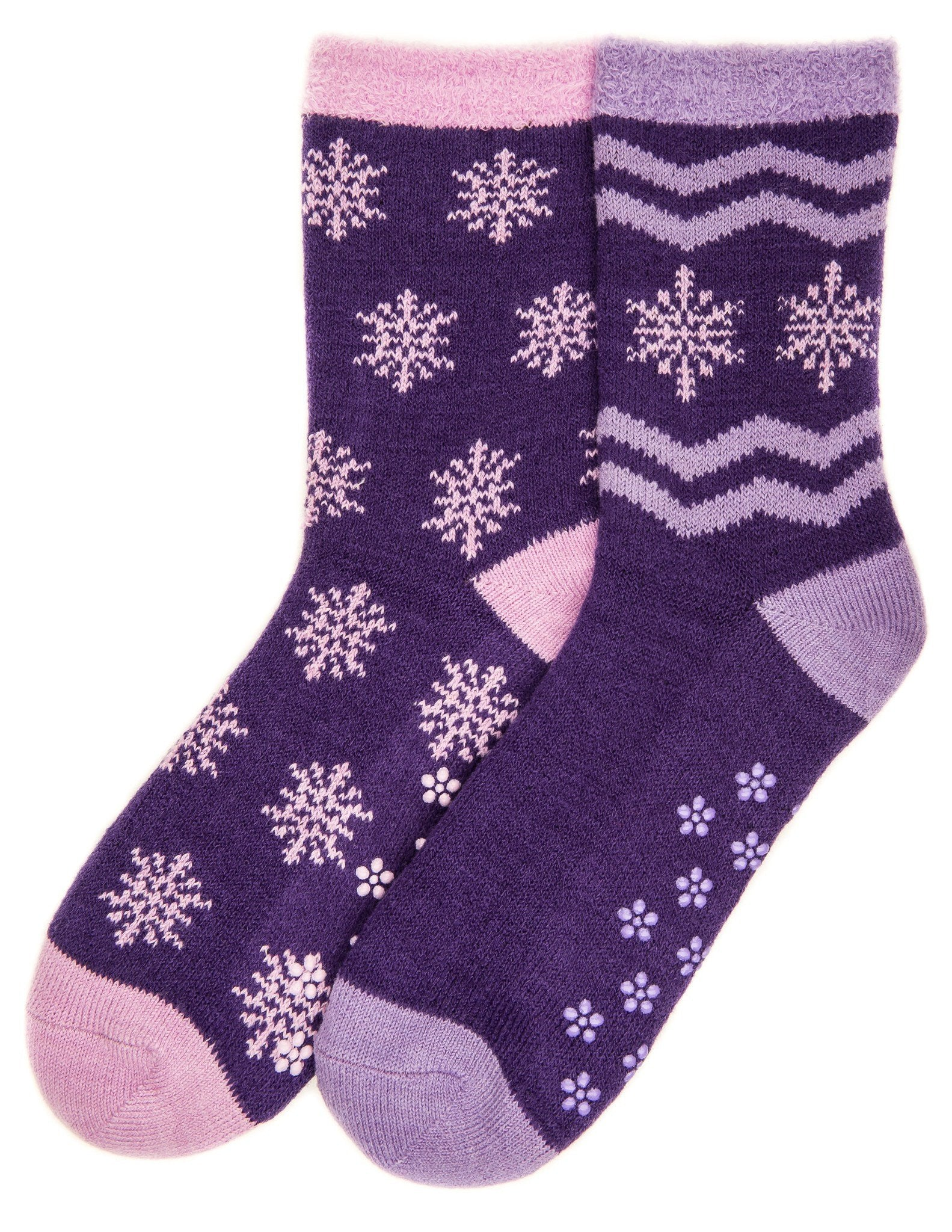 Women's Soft Premium Double Layer Winter Crew Socks - 2 Pairs - Set A5