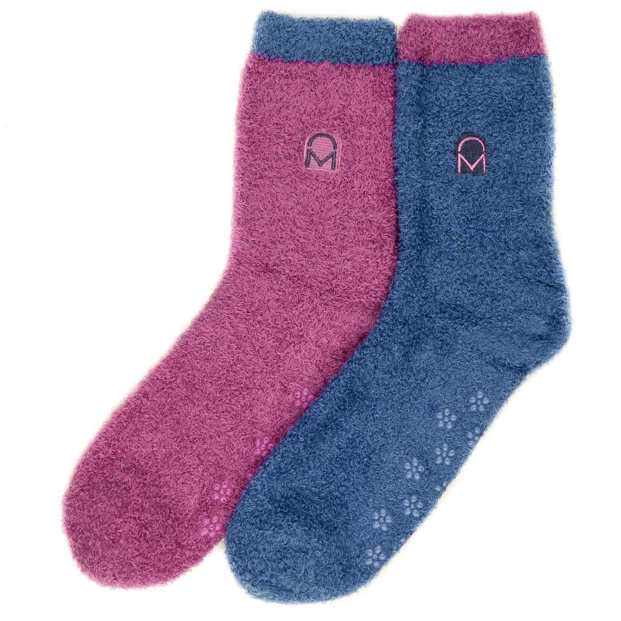 Women's Soft Anti-Skid Winter Feather Socks - 2-Pairs - Set A6