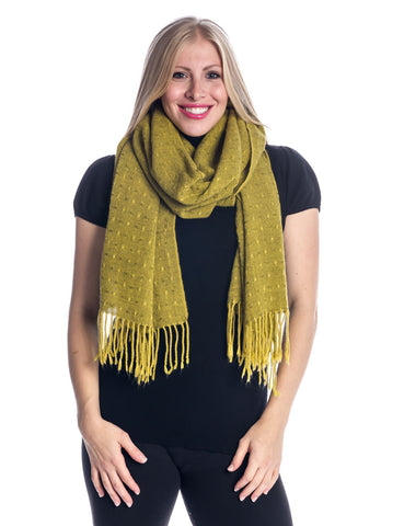 'Toasty' Warm Soft Premium Winter Scarf - Dot Pattern - Apple Green