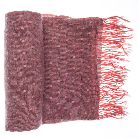 'Toasty' Warm Soft Premium Winter Scarf - Dot Pattern - Dusty Pink