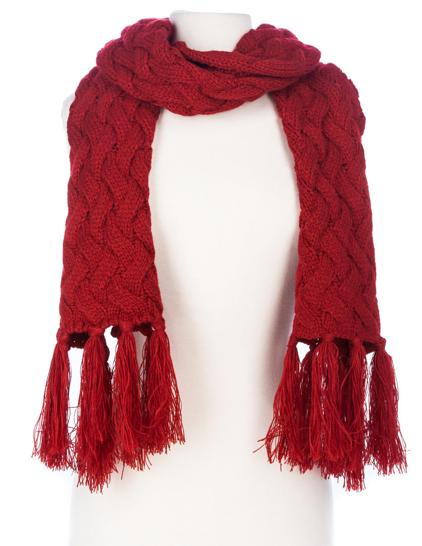 Women's Metro Winter Scarf and Hat Set - Red