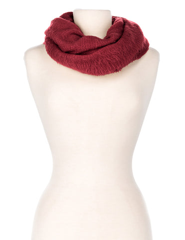 Women's Super-Soft Posh Infinity Scarf - Burgundy