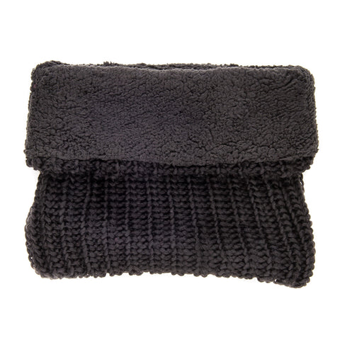 Women's Fleece-Lined Urban Snood Scarf - Black