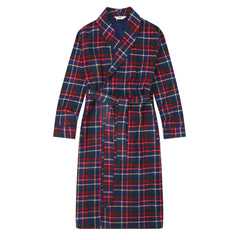 Flannel People Men's Flannel Robe - Plaid Green-Blue-Red