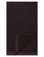 Box-Packaged Men's Uptown Premium Knit Striped Scarf - Fig/Black