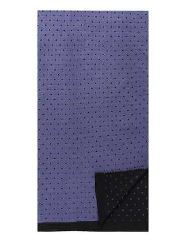 Box-Packaged Men's Uptown Premium Knit Dot Pattern Scarf - Blue/Black