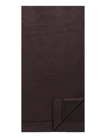Box-Packaged Men's Uptown Premium Knit Marled Scarf - Fig/Black