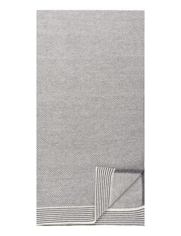 Box-Packaged Men's Uptown Premium Knit Marled Scarf - Heather Grey/Ivory