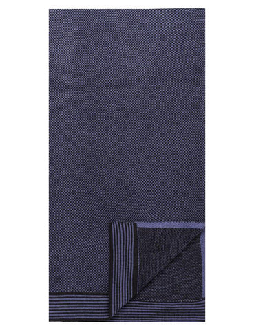 Box-Packaged Men's Uptown Premium Knit Marled Scarf - Navy/Black