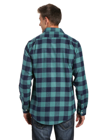 Gingham Checks - Blue-Green