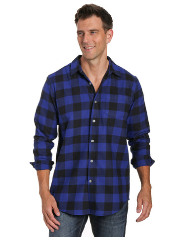 Gingham Checks - Blue-Black