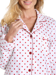 Dots Diva White-Red