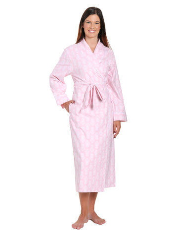 Gift Packaged Women's 100% Premium Cotton Flannel Robe