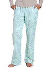 Womens Premium 100% Cotton Flannel Lounge Pants