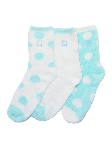Women's (3 Pairs) Soft Anti-Skid Fuzzy Winter Crew Socks - Set D14