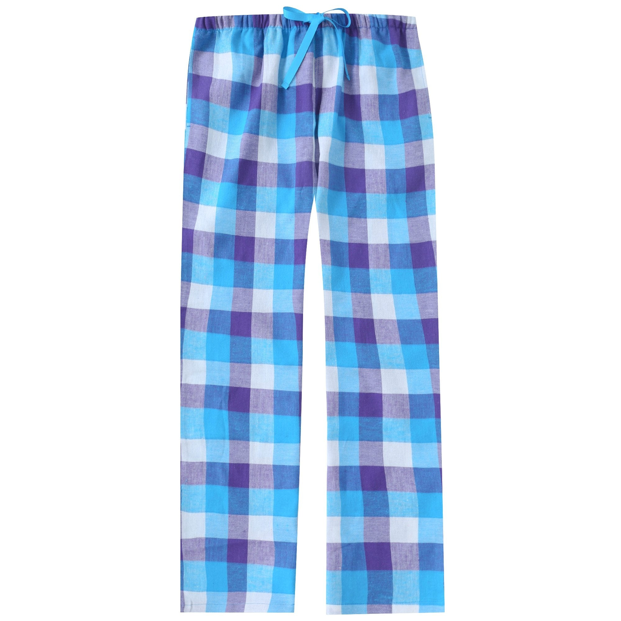 Womens 100% Cotton Lightweight Flannel Lounge Pants