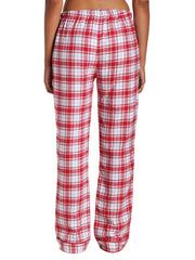 Plaid White-Red