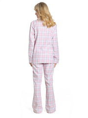 Plaid White-Pink