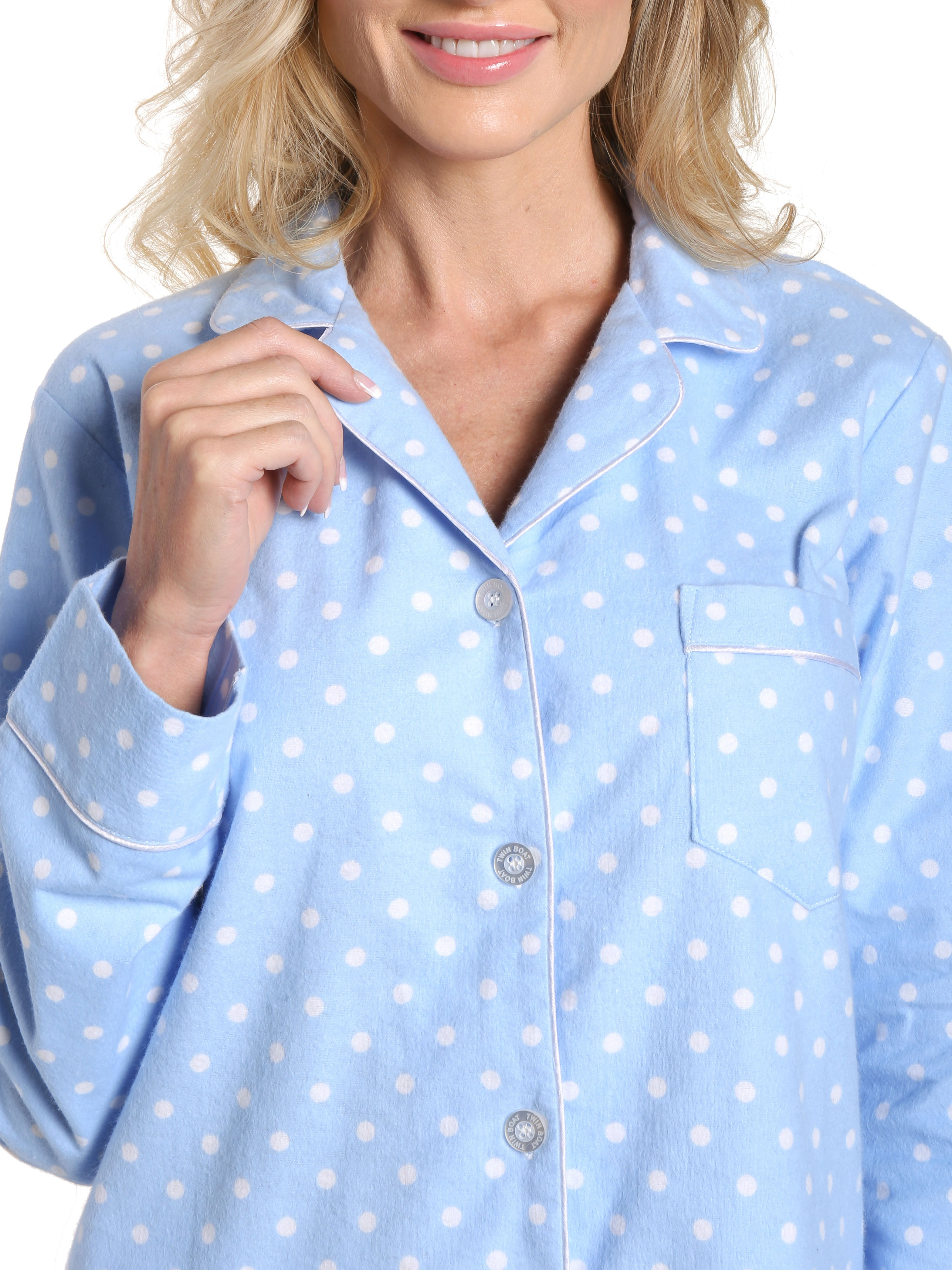 Dots Diva Blue-White