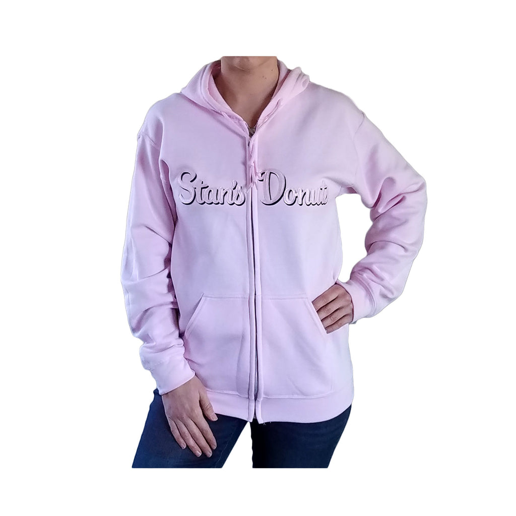 Women's Full-Zip Hoodie in Light Pink