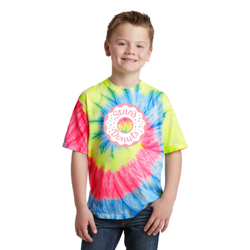 Youth Neon Rainbow Tie Dye Tee