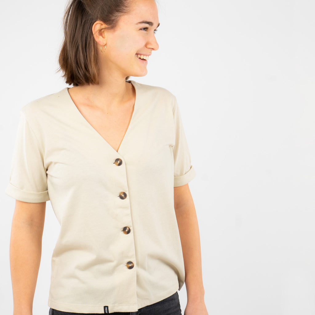 Button Top - Cremosa