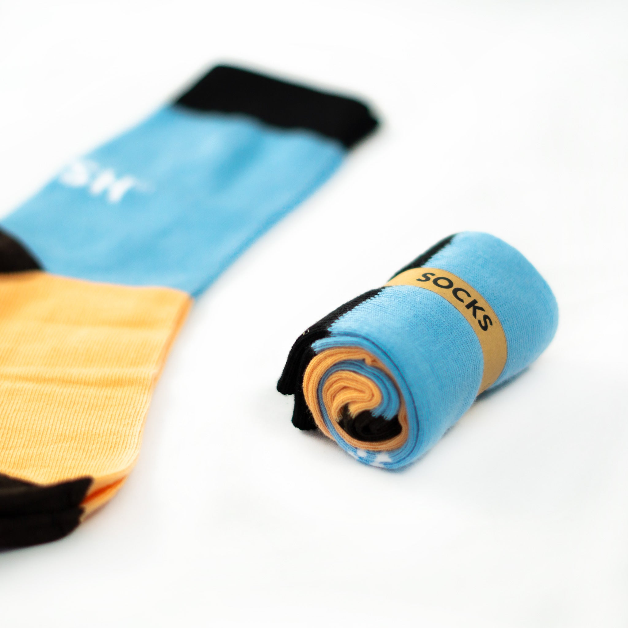 Single Socks (blue+salmon)