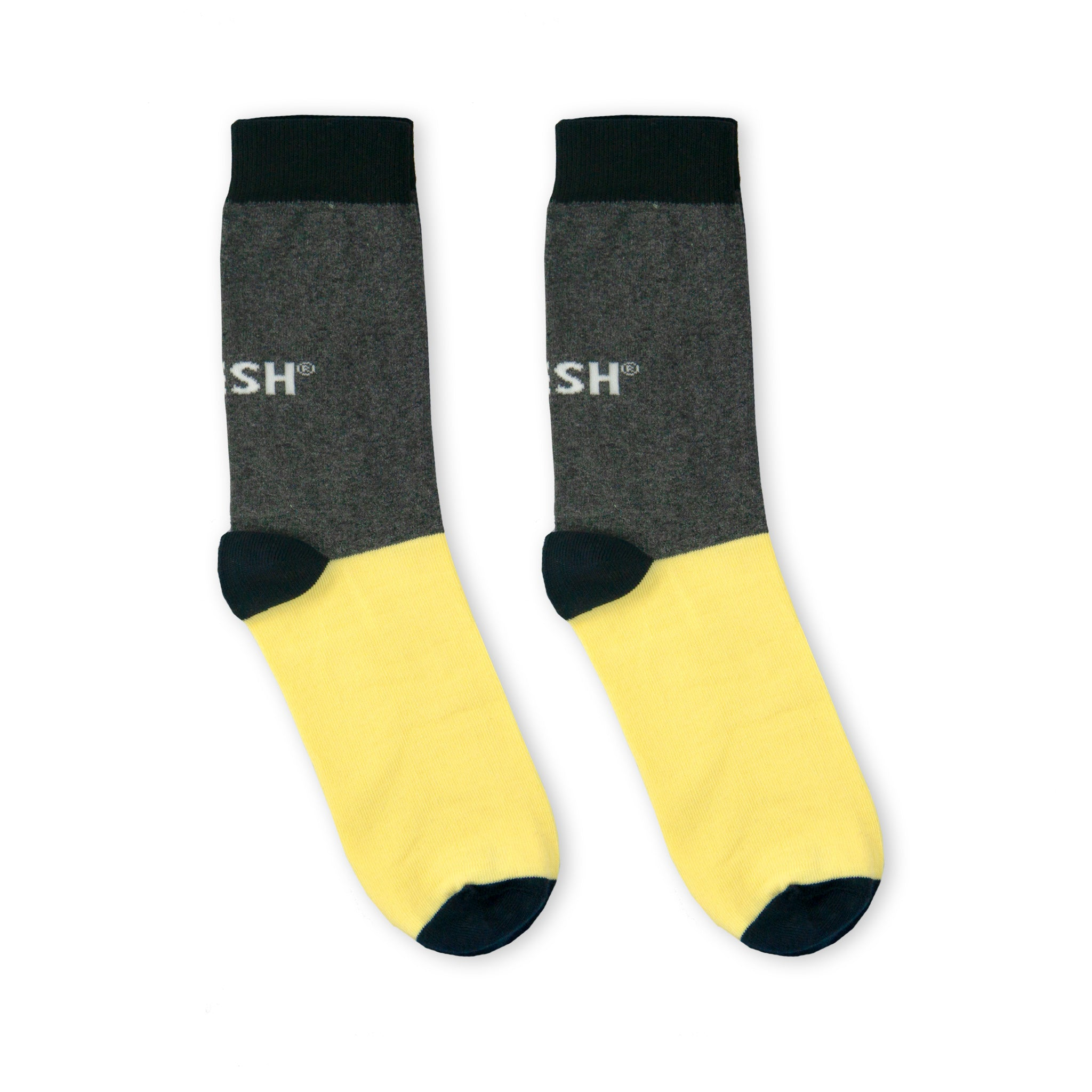 Single Socks (grey+yellow)
