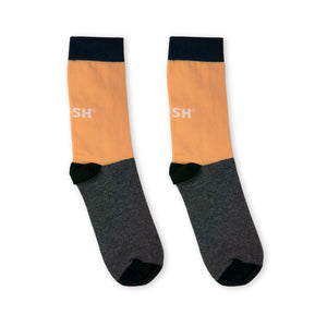 Single Socks (salmon+grey)