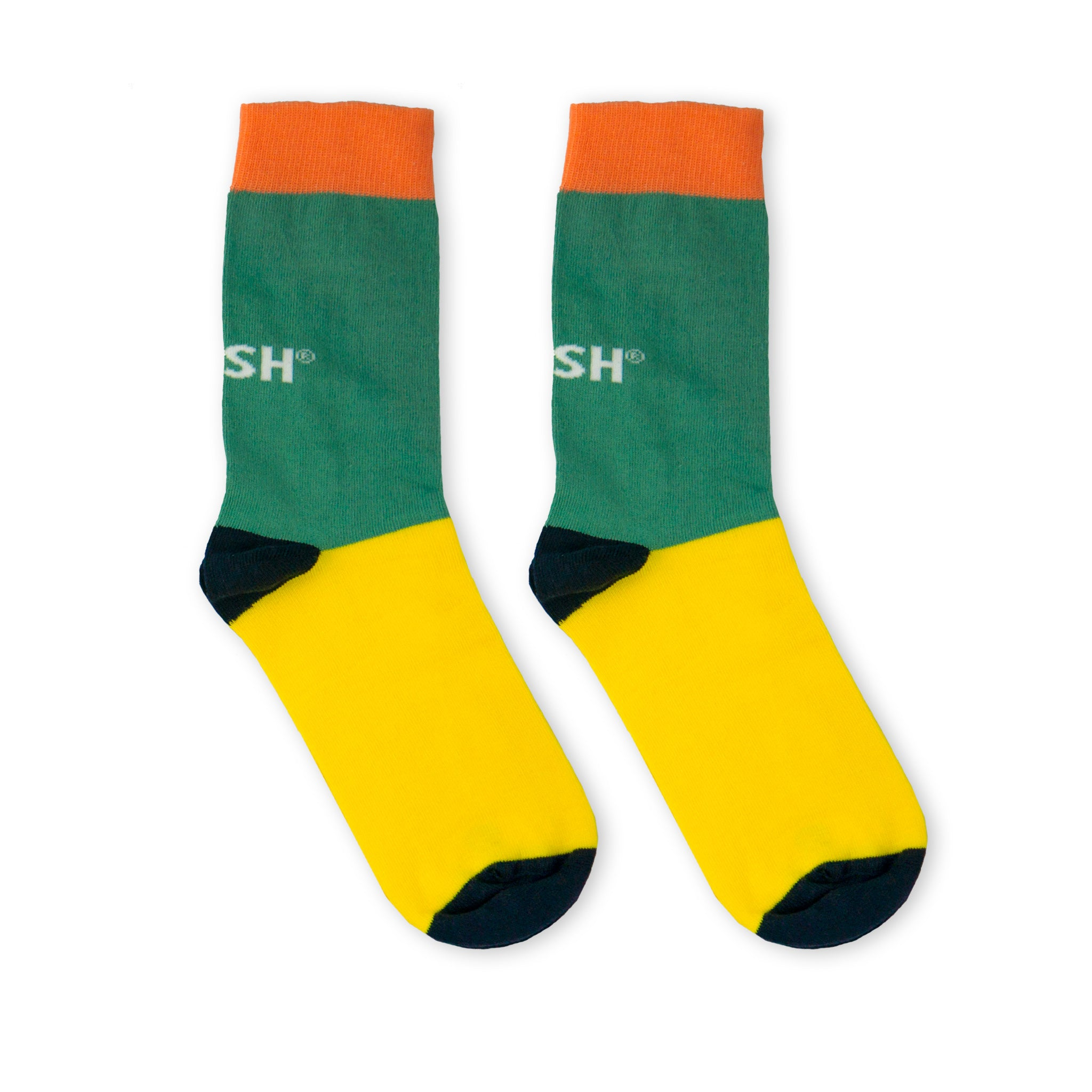 Single Socks (turquoise+yellow)