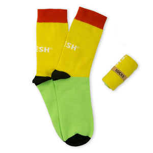 Single Socks (yellow+green)