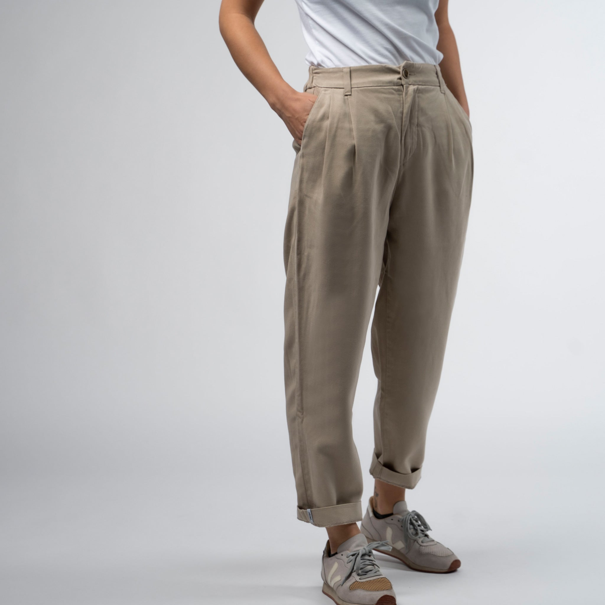 Tencel Pants - Slacks bege