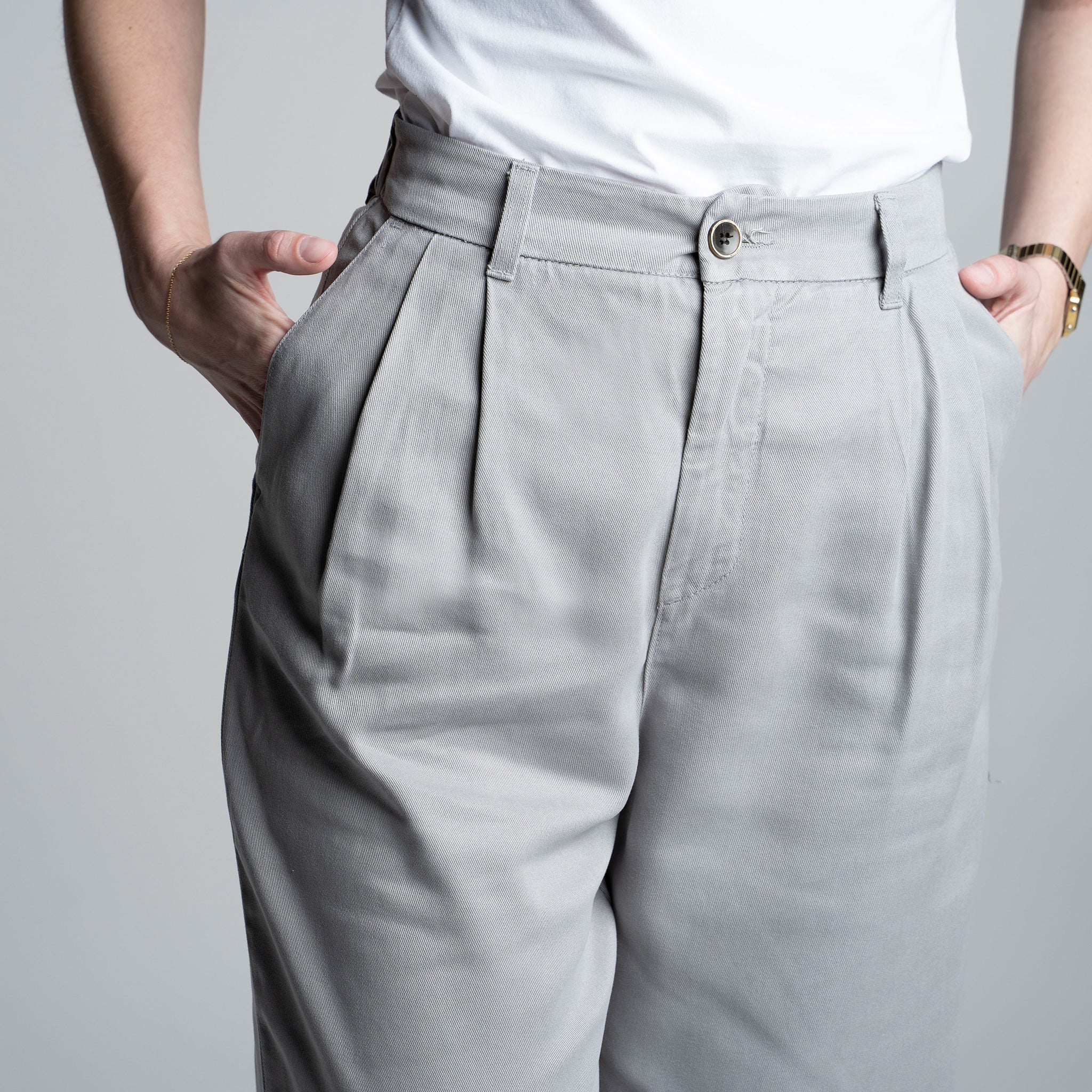 Tencel Pants - Slacks cinza