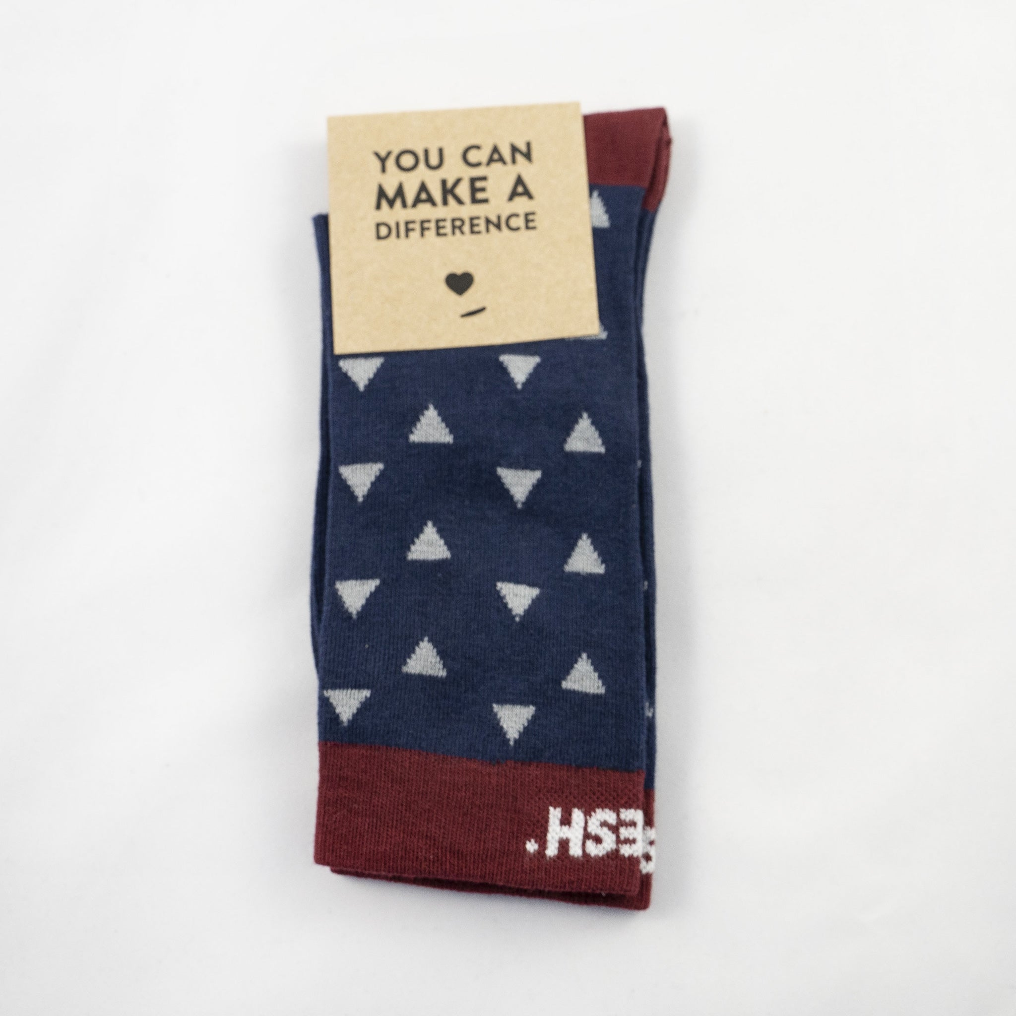 Single Socks navy&bordeaux