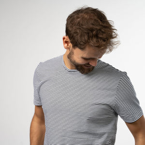 T-Shirt Stripes - Preto Branco