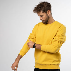 Men's Sweater - Sueter mustard-yellow
