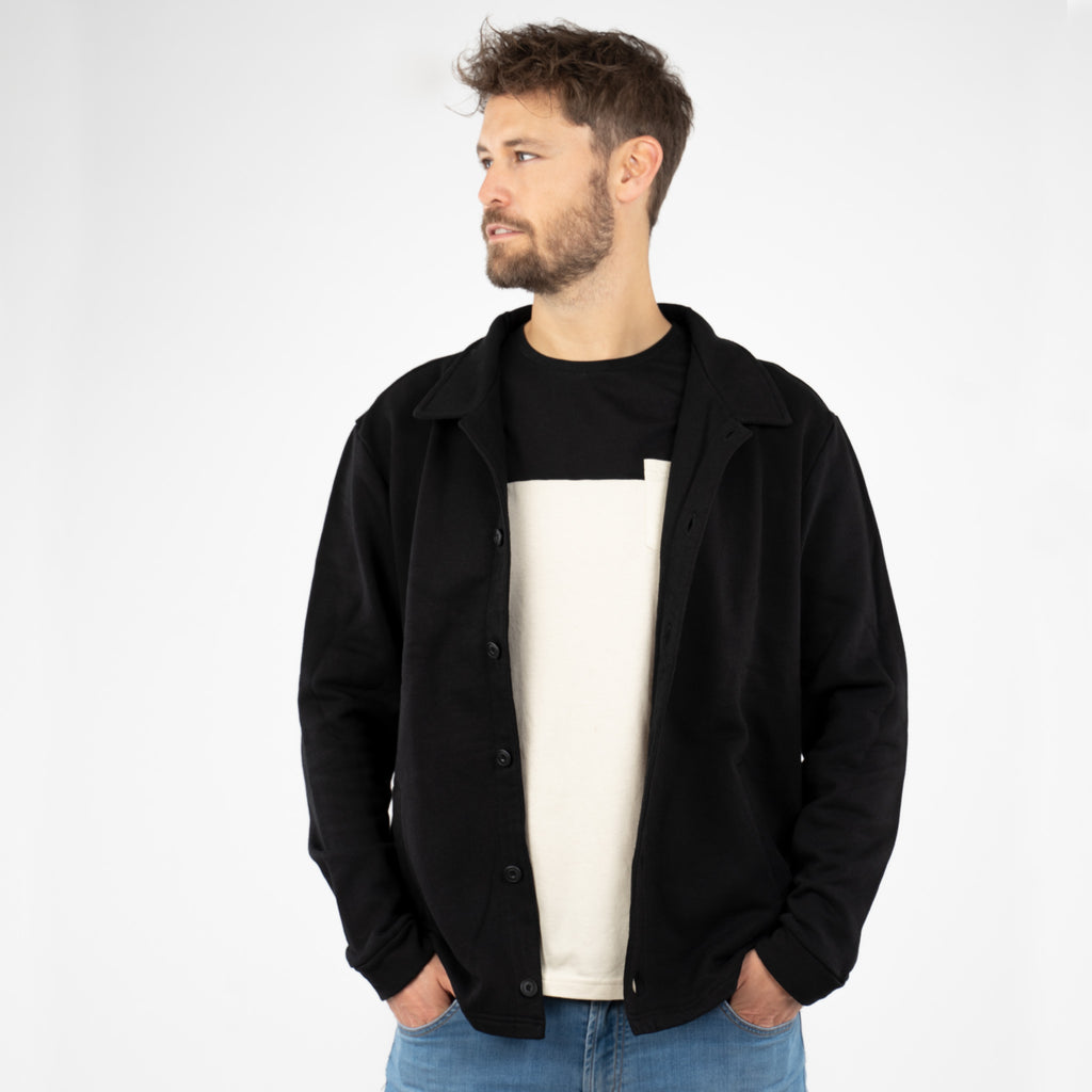 Sweatjacket - Botao Preto
