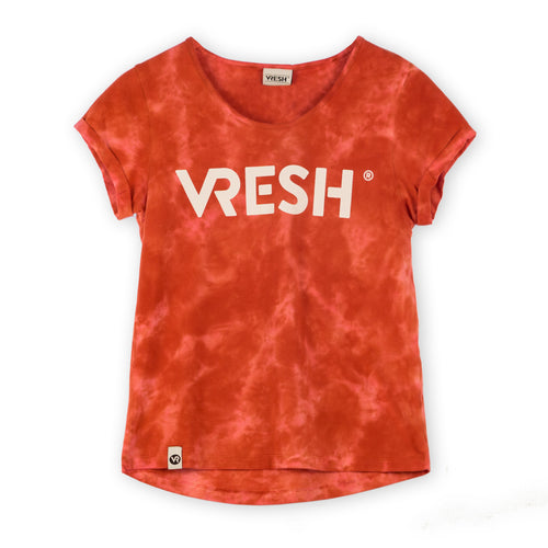 Widetop tye dye red